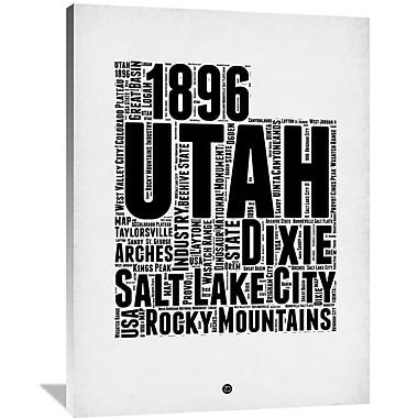 Naxart 'Utah Word Cloud 2' Textual Art on Wrapped Canvas; 48'' H x 36'' W x 1.5'' D