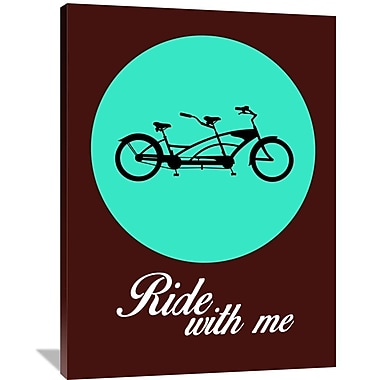 Naxart 'Ride w/ Me Poster 2' Graphic Art on Wrapped Canvas; 48'' H x 36'' W x 1.5'' D
