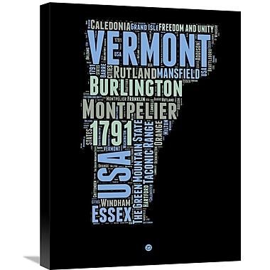 Naxart 'Vermont Word Cloud 1' Textual Art on Wrapped Canvas; 24'' H x 18'' W x 1.5'' D