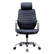 Porthos Home Gemma High-Back Desk Chair; Black