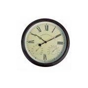 EsschertDesign World of Weather 15'' Roman Numerals Clock
