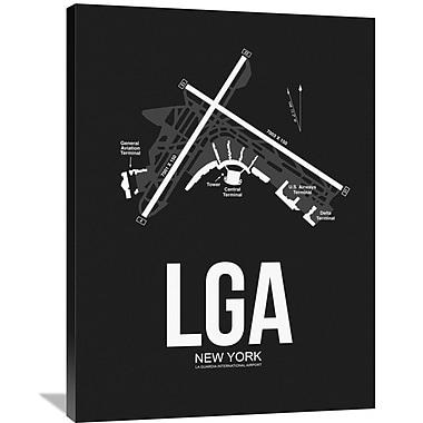 Naxart 'LGA New York Airport' Graphic Art on Wrapped Canvas; 40'' H x 30'' W x 1.5'' D