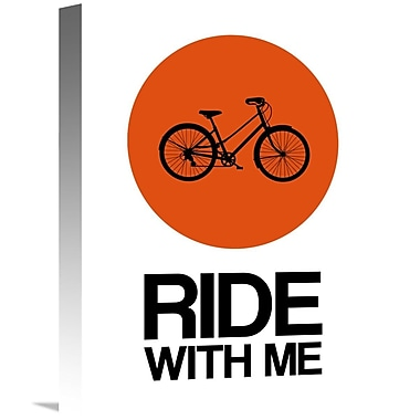 Naxart 'Ride w/ Me Circle Poster 1' Graphic Art on Wrapped Canvas; 16'' H x 12'' W x 1.5'' D