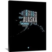 Naxart 'Alaska Word Cloud 1' Textual Art on Wrapped Canvas; 40'' H x 30'' W x 1.5'' D