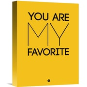 Naxart 'You Are My Favorite' Poster Textual Art on Wrapped Canvas; 16'' H x 12'' W x 1.5'' D