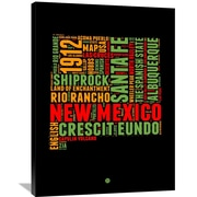 Naxart 'New Mexico Word Cloud 1' Textual Art on Wrapped Canvas; 40'' H x 30'' W x 1.5'' D