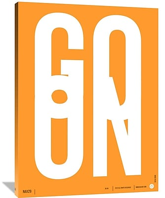 Naxart 'Go On Poster 2' Textual Art on Wrapped Canvas; 48'' H x 36'' W x 1.5'' D