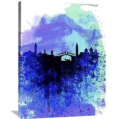 Naxart 'Venice Watercolor Skyline' Graphic Art on Wrapped Canvas; 40'' H x 30'' W x 1.5'' D