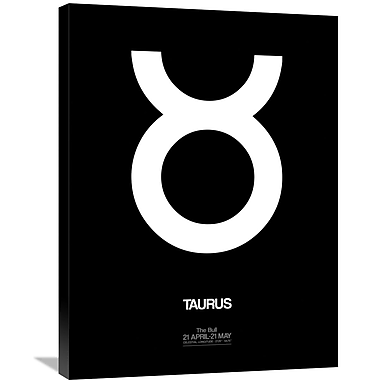 Naxart 'Taurus Zodiac Sign' Graphic Art on Wrapped Canvas in White; 32'' H x 24'' W x 1.5'' D