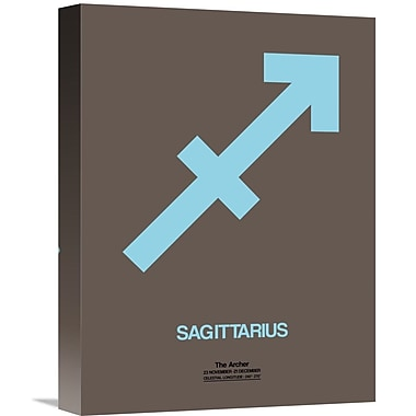 Naxart 'Sagittarius Zodiac Sign' Graphic Art on Wrapped Canvas in Blue; 16'' H x 12'' W x 1.5'' D