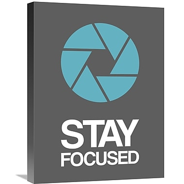 Naxart 'Stay Focused Circle Poster 4' Graphic Art on Wrapped Canvas; 24'' H x 18'' W x 1.5'' D
