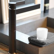 MaestroBath Caso Single Handle Single Hole Vessel Faucet; Matte Black
