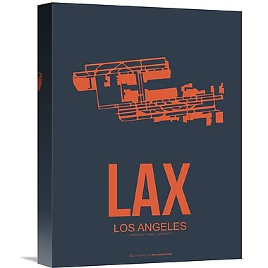 Naxart 'LAX Los Angeles Poster 3' Graphic Art on Wrapped Canvas; 16'' H x 12'' W x 1.5'' D