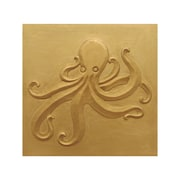 Leila's Home Living ''Carved Wood Octopus'' Wall Decor