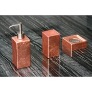 MaestroBath Luxury 3-Piece Bathroom Accessory Set; Copper Leaf