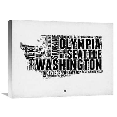 Naxart 'Washington Word Cloud 2' Textual Art on Wrapped Canvas; 18'' H x 24'' W x 1.5'' D