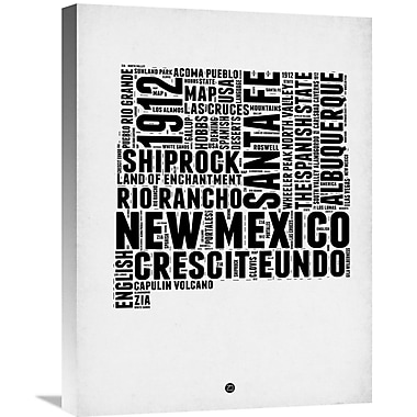 Naxart 'New Mexico Word Cloud 2' Textual Art on Wrapped Canvas; 24'' H x 18'' W x 1.5'' D