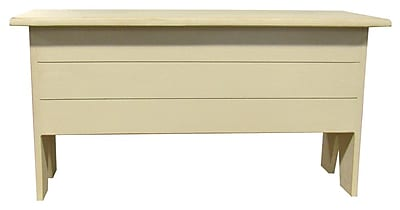 SawdustCity Wooden Storage Bench; Old Cream
