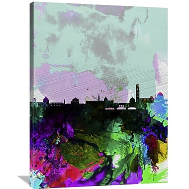 Naxart 'Florence Watercolor Skyline' Graphic Art on Wrapped Canvas; 40'' H x 30'' W x 1.5'' D
