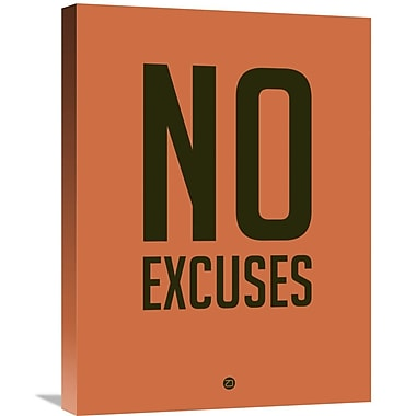 Naxart 'No Excuses 3' Textual Art on Wrapped Canvas; 24'' H x 18'' W x 1.5'' D