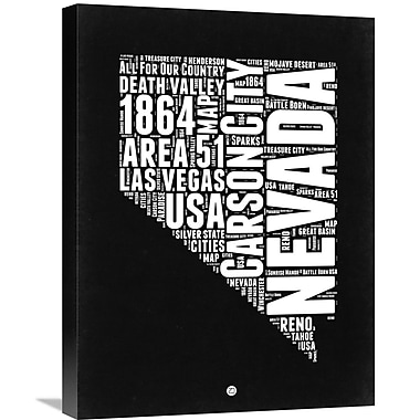 Naxart 'Nevada Map' Textual Art on Wrapped Canvas; 24'' H x 18'' W x 1.5'' D