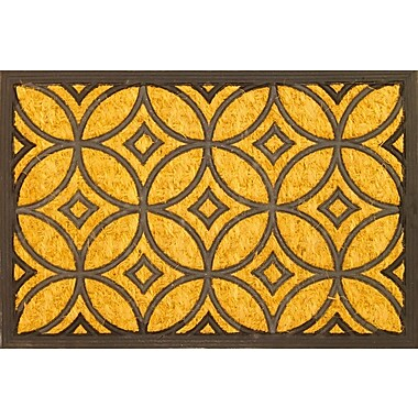Envelor Home Geometric Art Deco Coir (Coco) Rubber Doormat