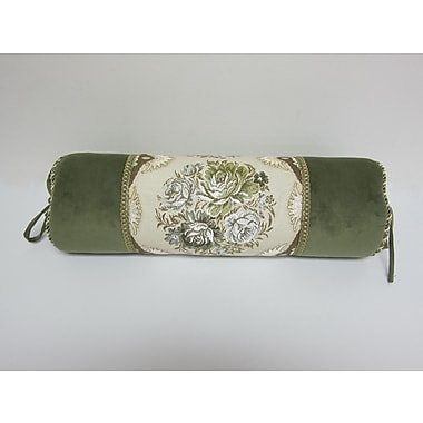 AirDoDo European Floral Bolster Pillow Cover
