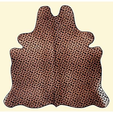 T. Style Dark Brown on Caramel Base Area Rug