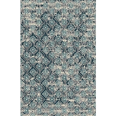 Rug Factory Plus Fusion Turquoise/Silver Indoor/Outdoor Area Rug; 2' x 3'