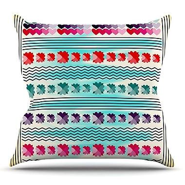 KESS InHouse Love Pattern by Famenxt Throw Pillow; 26'' H x 26'' W x 5'' D