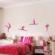 SissyLittle 4 Piece Gymnastics Wall Decal Set