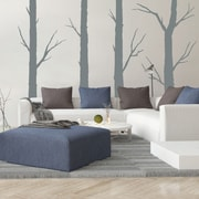 SissyLittle 4 Piece Forest Trees Wall Decal Set; Gray