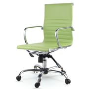Winport Industries Mid-Back Eco-Leather Executive Swivel Office Chair with Arms