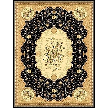Persian-rugs Black Area Rug; Rectangle 5'2'' x 7'2''