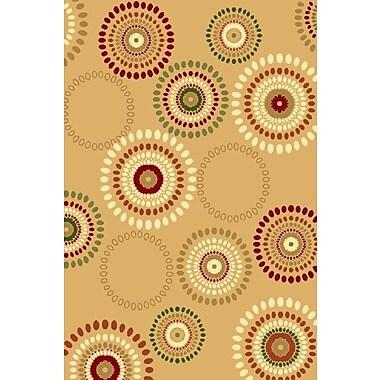 Persian-rugs Beige Area Rug; Rectangle 4' x 5'3''