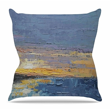 KESS InHouse Caribbean Sunset by Carol Schiff Throw Pillow; 16'' H x 16'' W x 3'' D