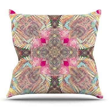 KESS InHouse Indian Clash by Danii Pollehn Throw Pillow; 16'' H x 16'' W x 3'' D