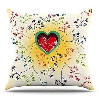 KESS InHouse Romantic by Famenxt Throw Pillow; 18'' H x 18'' W x 3'' D