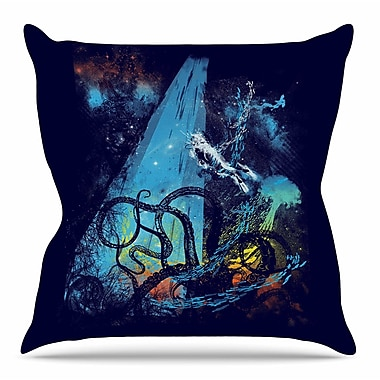 KESS InHouse Danger from the Deep by Frederic Levy-Hadida Throw Pillow; 16'' H x 16'' W x 3'' D