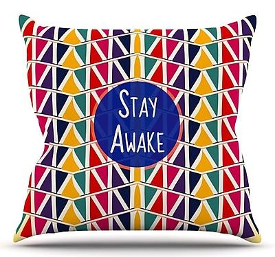 KESS InHouse Stay Awake by Famenxt Throw Pillow; 26'' H x 26'' W x 5'' D