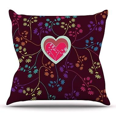 KESS InHouse Love Heart by Famenxt Throw Pillow; 18'' H x 18'' W x 3'' D
