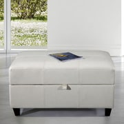 Bellasario Collection Royal Comfort Upholstered Storage Bench; White