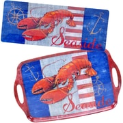 Certified International Maritime Lobster 2 Piece Melamine Platter Set
