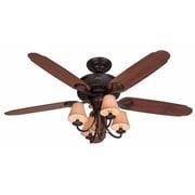 Hunter Fan 54'' Cortland 5-Blade Fan; Bronze with Dark Cherry/Walnut Blades