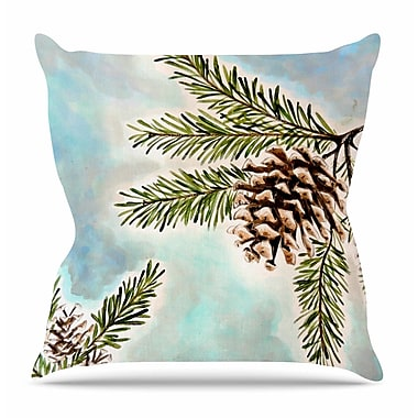 KESS InHouse Pinecones and Sky by Christen Treat Throw Pillow; 18'' H x 18'' W x 3'' D