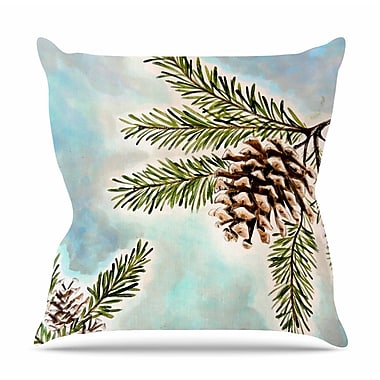 KESS InHouse Pinecones and Sky by Christen Treat Throw Pillow; 26'' H x 26'' W x 5'' D