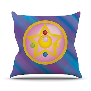 KESS InHouse Moon Throw Pillow; 26'' H x 26'' W