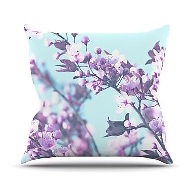 KESS InHouse Cherry Phantasy Throw Pillow; 18'' H x 18'' W