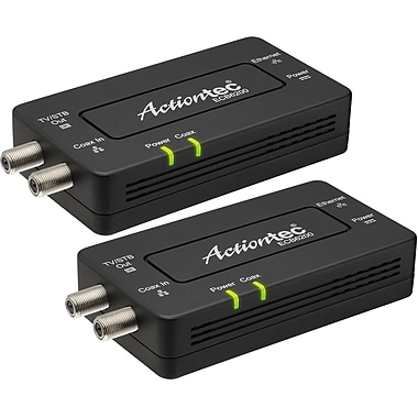 Actiontec Bonded MoCA 2.0 Ethernet to Coax Network Adapter, 2pack, 1 x Network (RJ-45), (ECB6200K02)