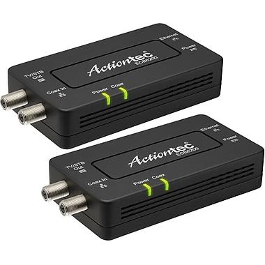 Actiontec reconstitué MoCA 2.0 Ethernet à coaxial adaptateur réseau, paquet de 2, 1 x réseau (RJ-45), (ECB6200K02)